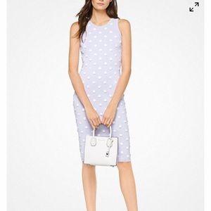 Floral Embellished Stretch-Viscose Dress NWT